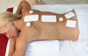 Conjunto de Pedras Frias para Massagem em Mármore Puro