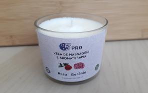 Vela de Massagem e Aromaterapia - Rosa | Gerânio